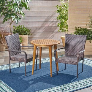 Wrought Studio GoetschOutdoor 3 Piece Bistro Set