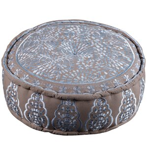 Hand Embroidered Pouf Ottoman by Artemano