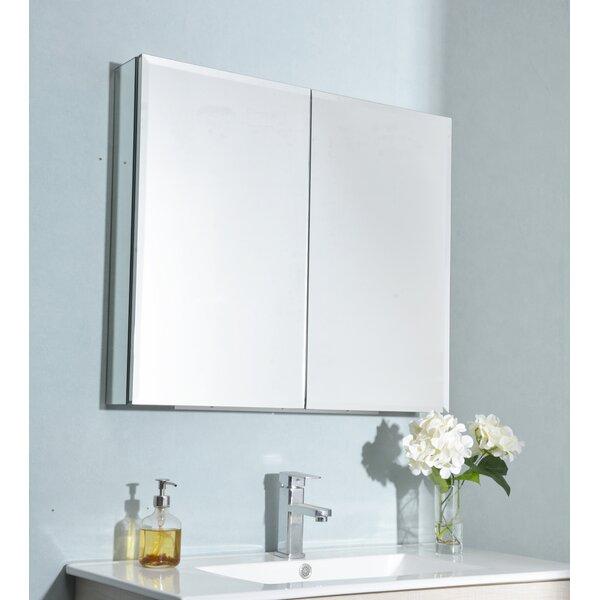 Latitude Run Gearlean Recessed Or Surface Mount Frameless 2 Doors Medicine Cabinet With 4 Adjustable Shelves Wayfair
