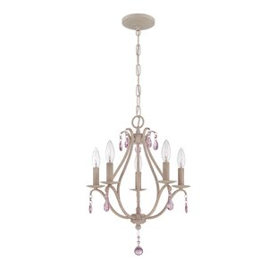 Farmhouse or country chandelier youll love palumbo 5 light mini candle style chandelier aloadofball Choice Image