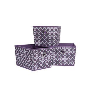 Affordable Price Fabric Bin (Set of 3) By Rebrilliant
