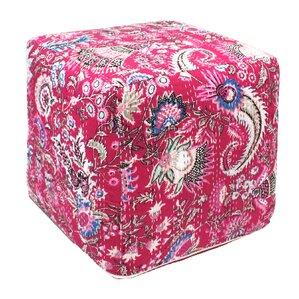 Kantha Pouf Ottoman by Divine Designs