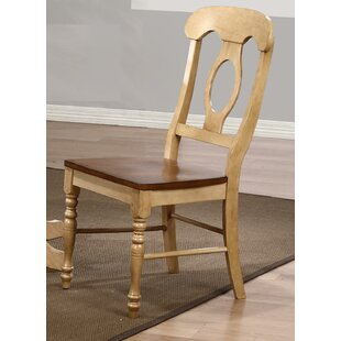Loon Peak Huerfano Valley Napoleon Solid Wood Dining Chair (Set of 2)