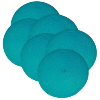 Birch Lane™ Heritage Round Braided Placemats Color: Baja Blue