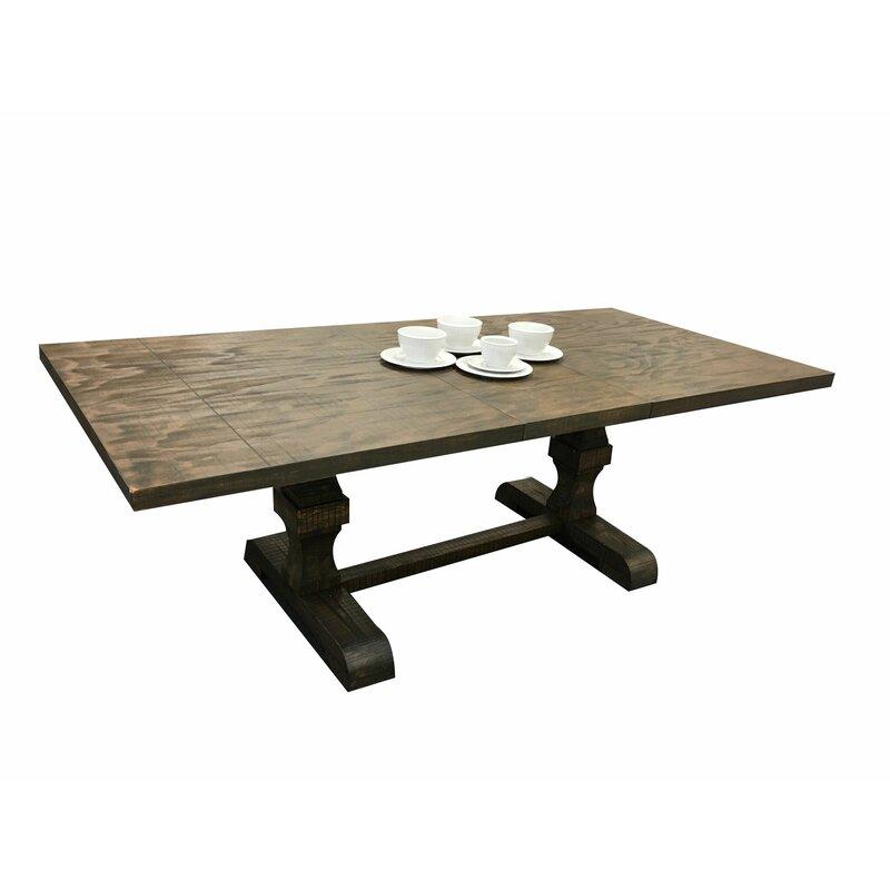 Lesley Trestle Pedestal Base Extendable Dining Table