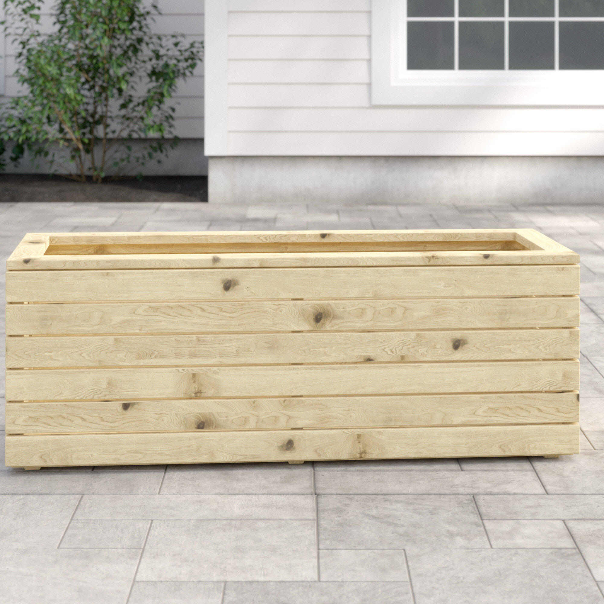 Bel Etage Linear Wooden Planter Box Reviews Wayfair Co Uk
