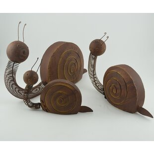 Crose 3 Piece Garden Snails With Happy Face Statue Set by August Grove