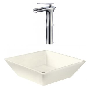Buying Ceramic Square Vessel Bathroom Sink with Faucet ByRoyal Purple Bath Kitchen