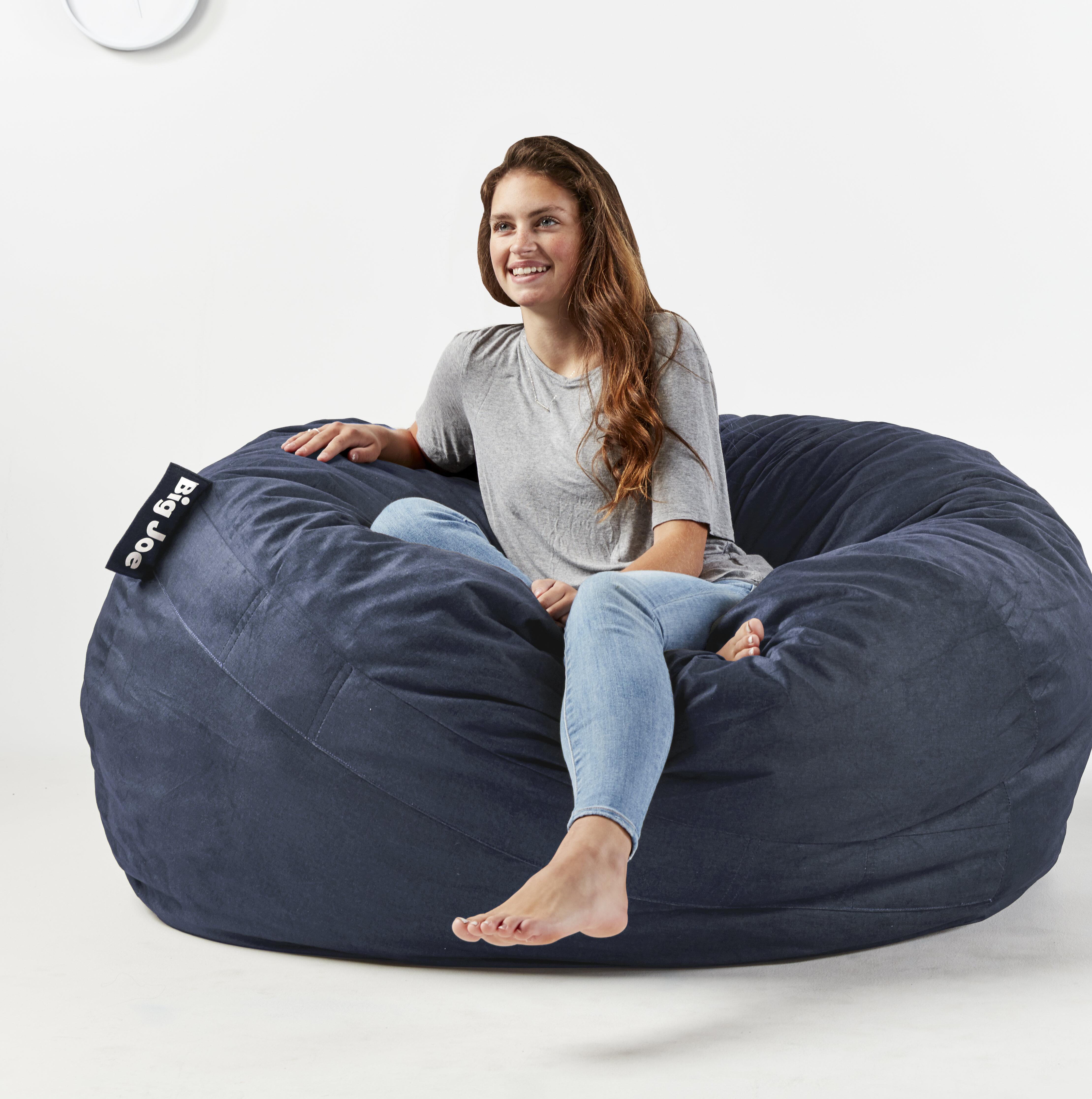 Pleasant Fuf Big Joe King Bean Bag Chair Ibusinesslaw Wood Chair Design Ideas Ibusinesslaworg