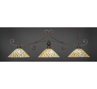 Fleur De Lis Living Babin 3-Light Billiard Pendant