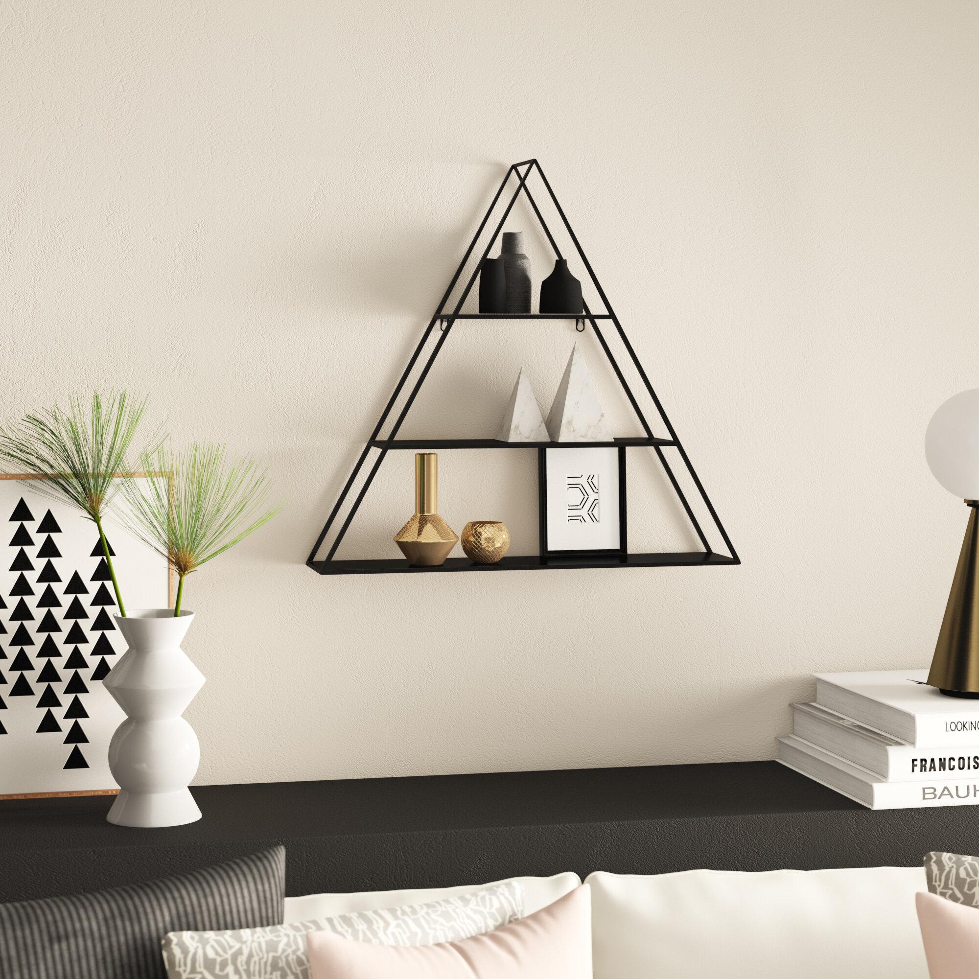 Mercury Row Loewen 3 Piece Triangle Accent Shelf Reviews Wayfair
