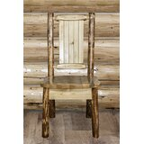 Tustin Solid Wood  Slat Back Side Chair in Puritan Pine Stain/Clear Lacquer Finish by Loon Peak®