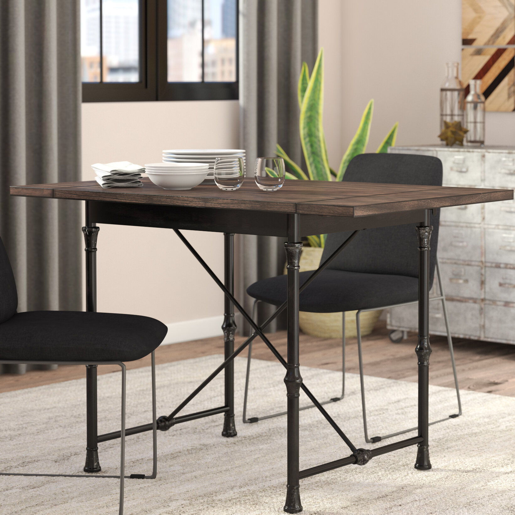 Trent Austin Design Cristal Drop Leaf Dining Table U0026 Reviews | Wayfair