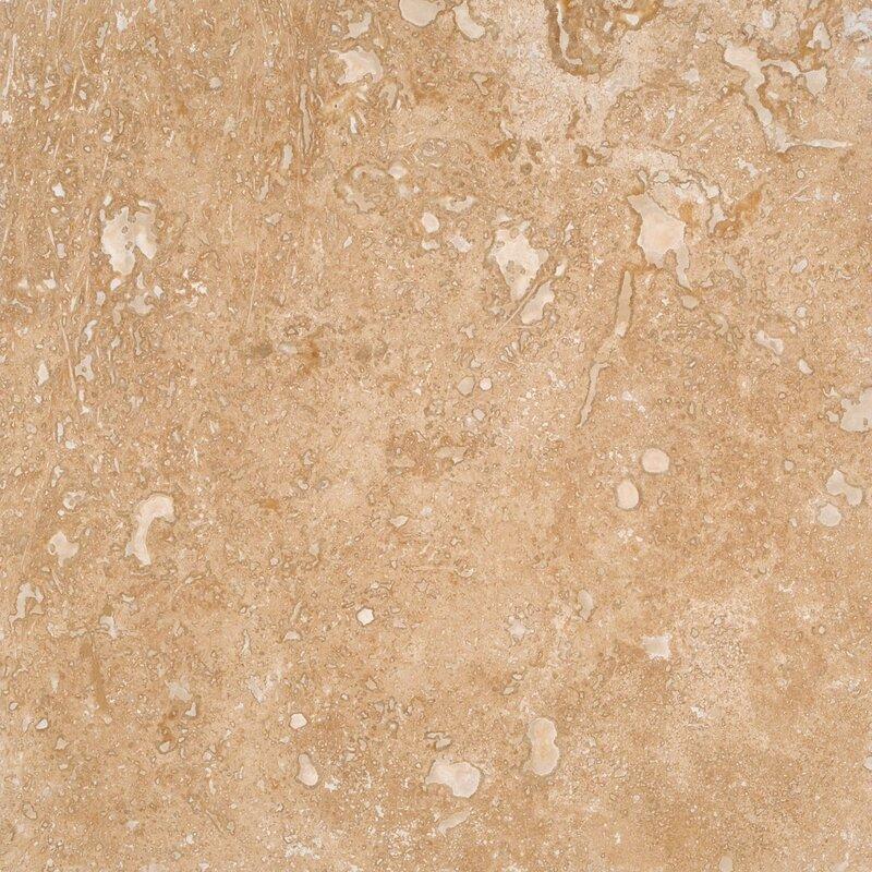 "Travertine Tile Pictures msi tuscany walnut 12"" x 12"" travertine tile & reviews | wayfair"