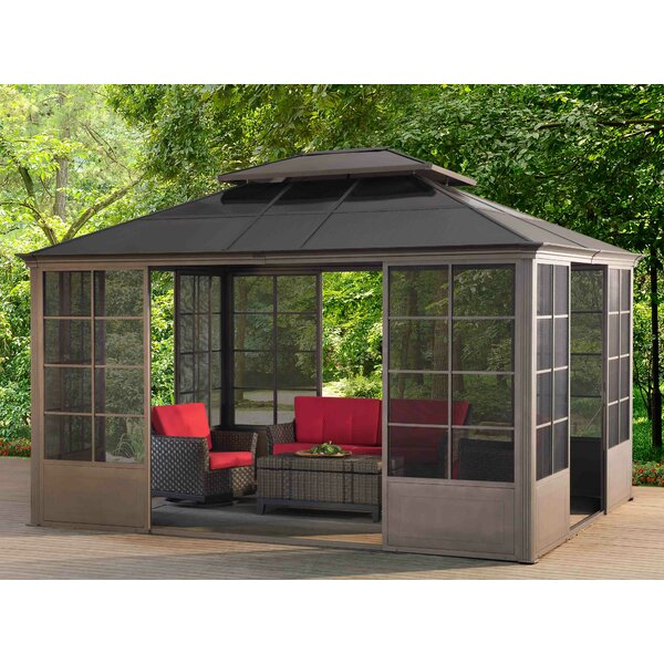 Sunjoy 12 Ft W x 14 Ft D Metal Patio Gazebo Wayfair
