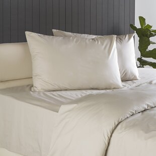 Carswell Plain Turkish Solid Color 100% Cotton Sateen Sheet Set