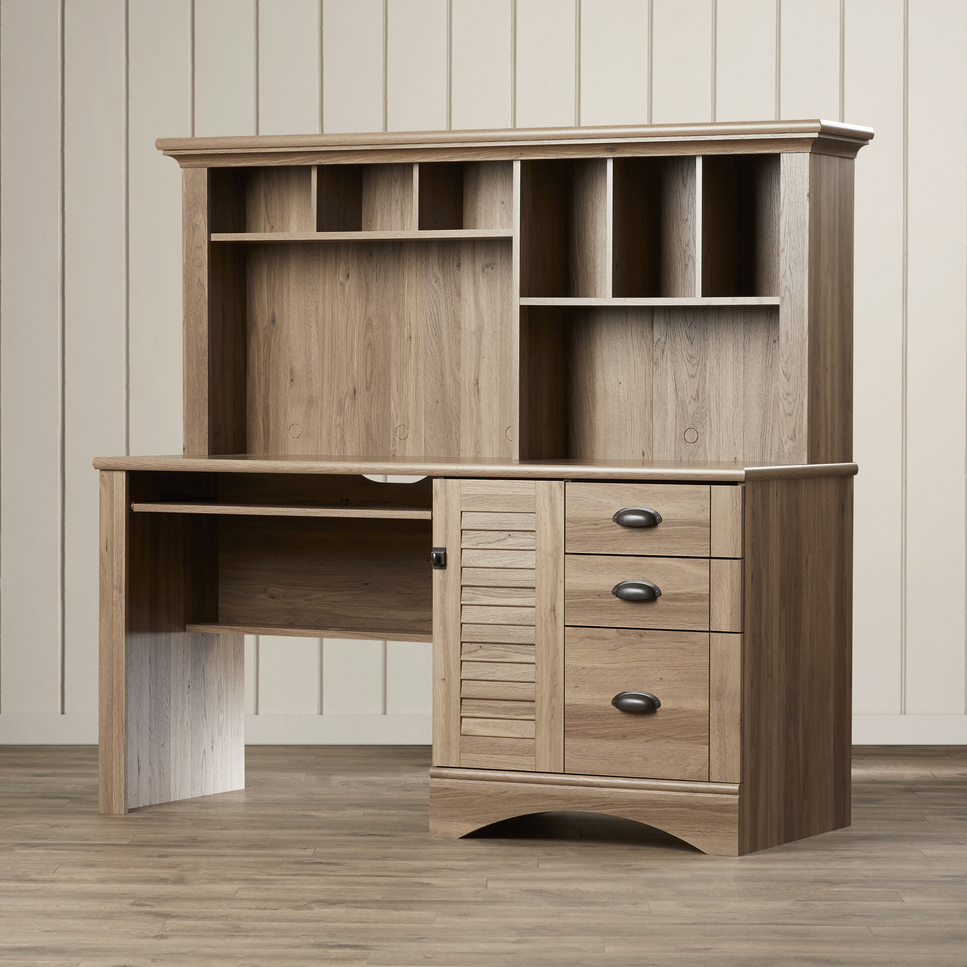 Beachcrest Home Pinellas Desk with Hutch & Reviews  Wayfair