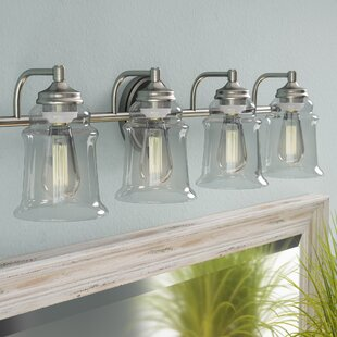 Read Reviews Mullis Metal 4-Light Vanity Light By Beachcrest Home