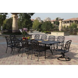 Astoria Grand Dolby 11 Piece Dining Set with Cushions