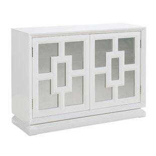 Willa Arlo Interiors Emilie Mirrored 2 Door Cabinet