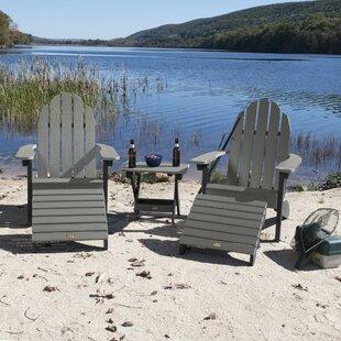 Detrick Plastic Adirondack Chair with Ottoman (Set of 5)