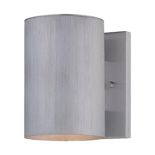 Moonsu Contemporary 1-Light Metal Shade Outdoor Sconce
