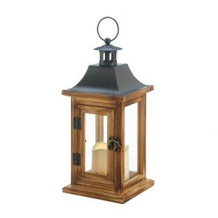 Breakwater Bay Classical Square Wood Lantern