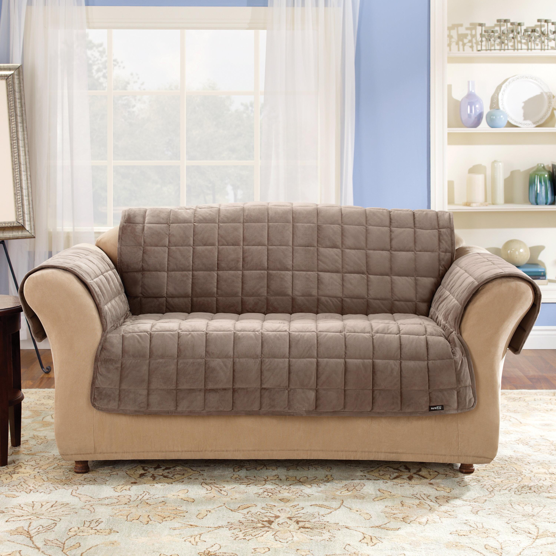 Sure Fit Deluxe Pet Box Cushion Sofa Slipcover Reviews Wayfair
