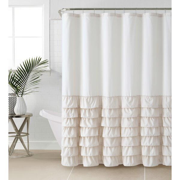 White Ruffle Shower Curtain. Fine Ruffle With White Ruffle Shower Curtain