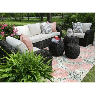 Cottleville 6 Piece Sunbrella Sofa Seating Group with Sunbrella Cushions by Bungalow Rose