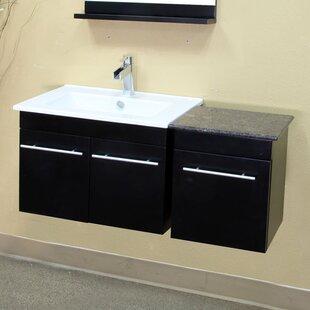 Fairfax 40 Single Wall-Mounted Bathroom Vanity Set by Bellaterra Home