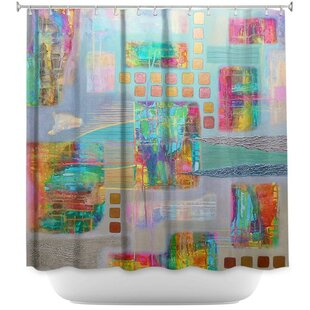 Bleed-Through II Single Shower Curtain