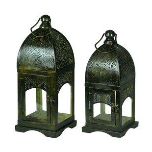 Bloomsbury Market Moroccan 2 Piece Metal Lantern Set