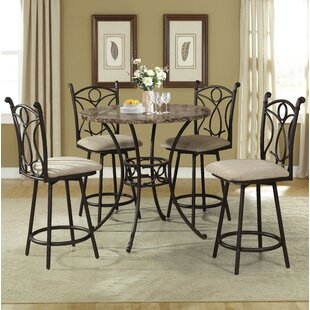 Alkire 5 Piece Pub Table Set by Hazelwood Home