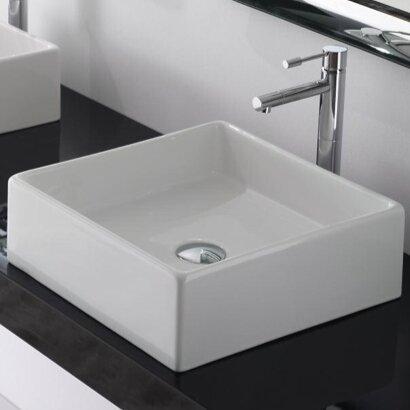 Scarabeo By Nameeks Teorema Ceramic Rectangular Vessel Bathroom Sink Reviews Wayfair