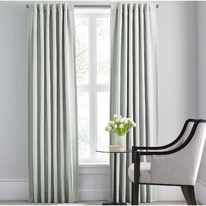 Modern Solid Semi-Sheer Rod Pocket Single Curtain Panel