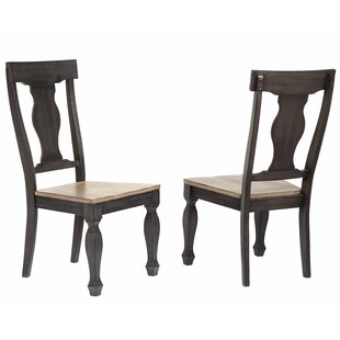 Grondin Solid Wood Dining Chair (Set of 2) Charlton Home