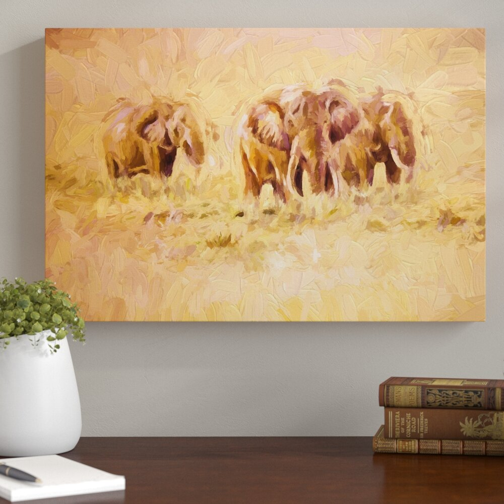 Home Loft Concept African Elephants in South Africa Painting Print ...