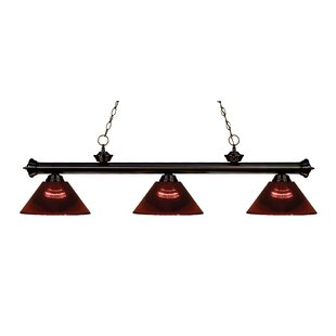 Red Barrel Studio Zephyr Contemporary 3-Light Cone Shade Billiard Light
