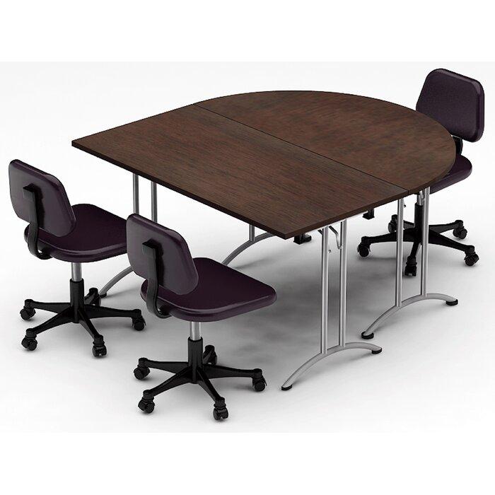 Surprising Meeting Seminar 2 Piece Half Round Conference Table Set Set Download Free Architecture Designs Viewormadebymaigaardcom