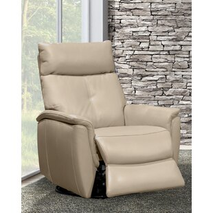 Franklin Leather Power Swivel Recliner