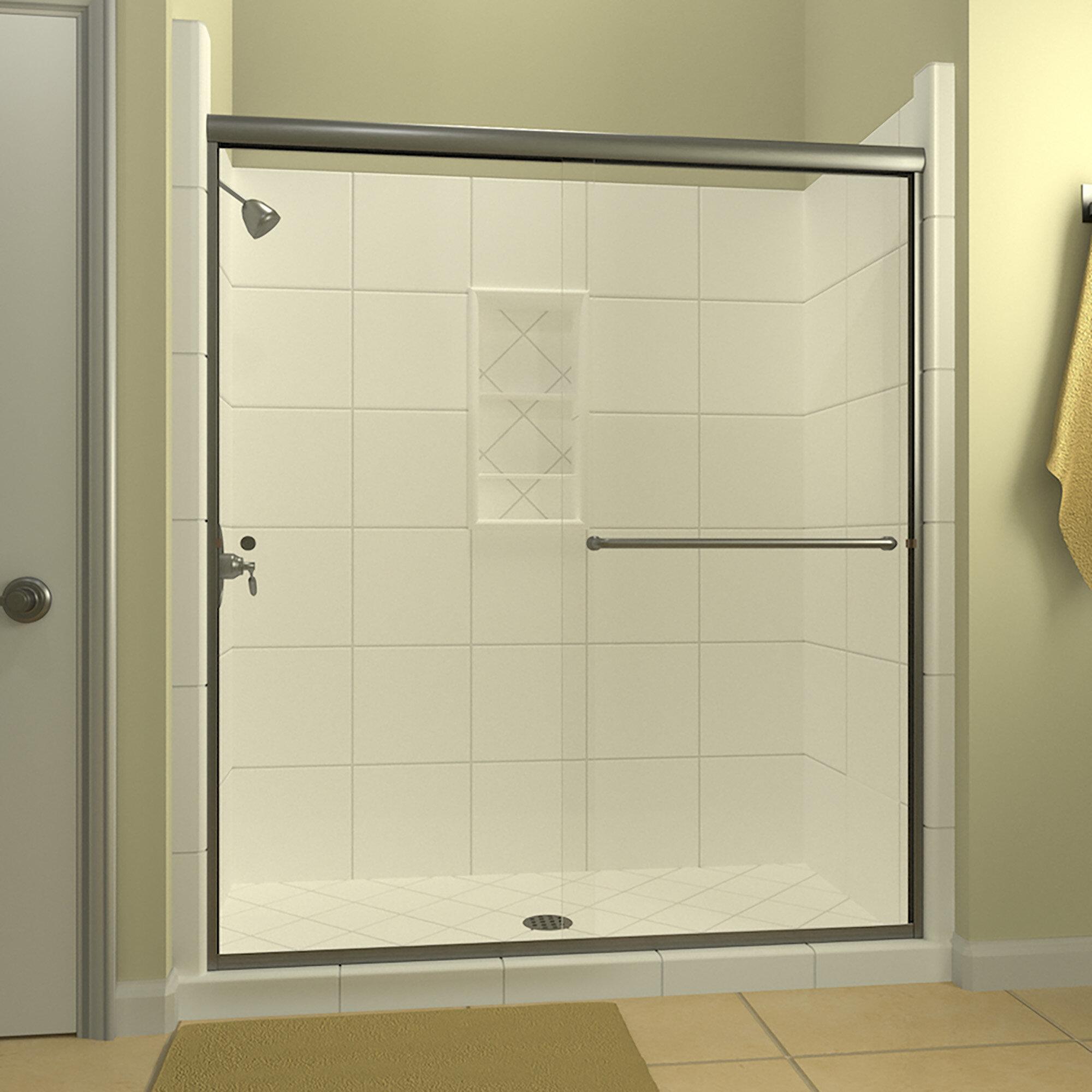 Leser 54 X 70 Bypass Semi Frameless Shower Door