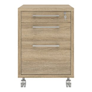 Shepshed 3 Drawer Mobile Filing Cabinet By Mercury Row