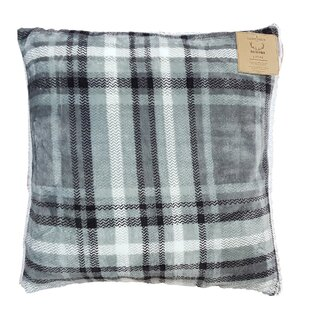 Rustic Cabin Super Soft Plaid and Sherpa Throw Pillow