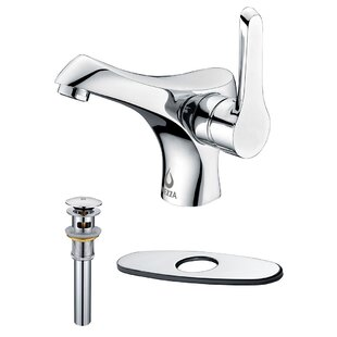 Nezza Falcon Bathroom Faucet, Pop-up Drain Overflow with Deck Plate