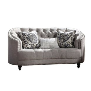 Bretz Upholstered Loveseat by Bungalow Rose