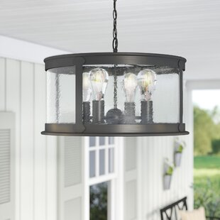 Calvin 4-Light Outdoor Pendant By Gracie Oaks Outdoor Lighting