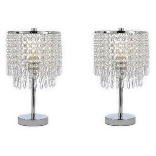 Aaru Round Crystal 14 Table Lamp (Set of 2)