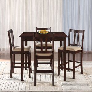 angelique 5 piece counter height dining set. Interior Design Ideas. Home Design Ideas