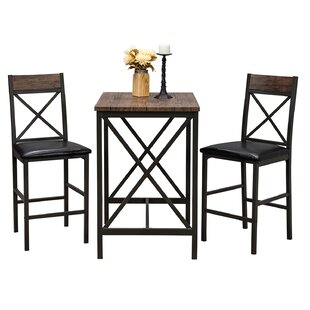 Losada 3 Piece Pub Table Set